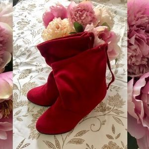 Adorable Red Booties